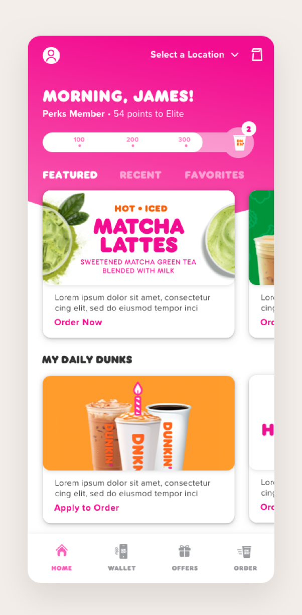 Rebranding the Dunkin' commerce experience